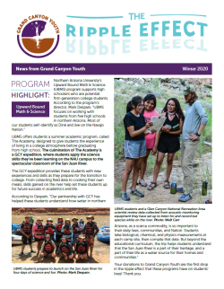 Grand Canyon Youth Ripple Effect Newsletter Cover