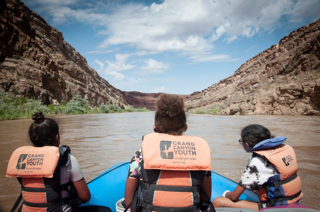 Grand Canyon Youth on a boat