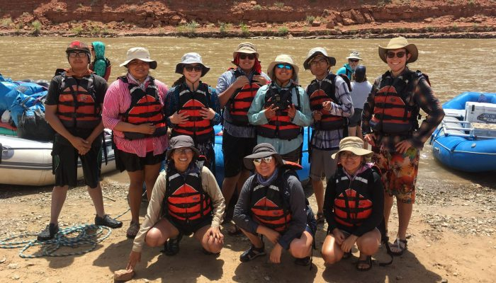 UBMS students prepare to launch on the San Juan River for four days of science and fun during the summer of 2019. Photo: Mark Despain.