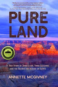 Annette McGiveny's Book Cover Pure Land A View of the Grand Canyon at Sunset